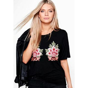 Lakota Rose Applique T-Shirt