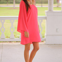 Open To It Dress, Coral