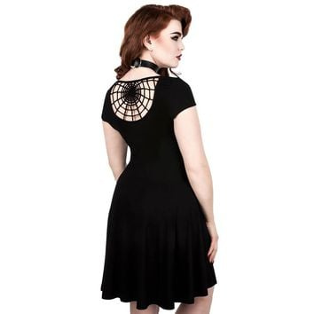 Widows Spiderweb Skater Dress