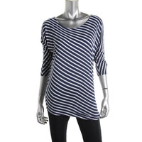 INC Womens Petites Knit Striped Pullover Top
