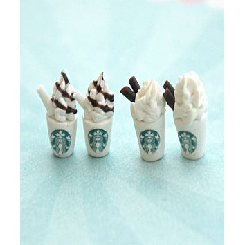 Starbucks Coffee Stud Earrings