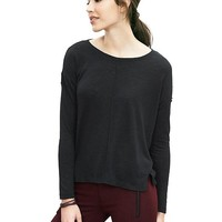 Banana Republic Womens Slubbed High/Low Tee