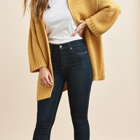 Open Front Stitched Cardigan