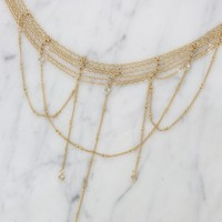 Dropping in Dreams Choker in Gold