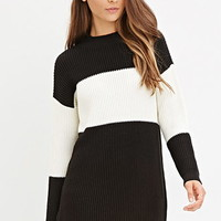 Colorblock Ribbed Knit Sweater