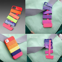 [grdx02160]Neon Multi Stackable Hard Cover Case For Iphone 4/4s/5