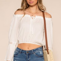 Tawny Off The Shoulder Top - White