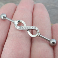 Infinity Industrial Barbell Piercing Upper Ear Piercing