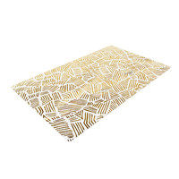 """Pom Graphic Design """"Inca Gold Trail"""" Yellow Brown Woven Area Rug"""