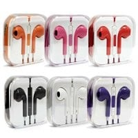 eCaseUSA 3.5mm Earpods Earbuds with Remote and Mic for Iphones, Ipads, Ipods, Nano, Kindle Red