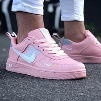 Onewel Nike Air Force 1 Classic Hot Sale Women MLeisure Flat Sport Running Shoes Sneakers Pink