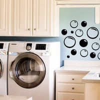 Bubble Decals for Bathroom Room or Laundry Room Pack of Bubbles Vinyl Wall Decal Sticker Art