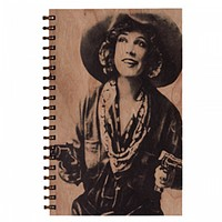 Wood Notebook Cowgirl Large