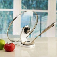 Hot Cooking Tools Spoon holder Pot Lid Shelf Storage Kitchen Decor Tool Stand Holder