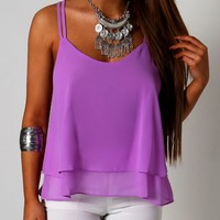Virginia Purple Strappy Vest