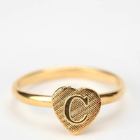 Diament Jewelry for Urban Renewal Vintage Initial Heart Ring