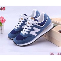 Alwayn New Balance Fashionable Casual All-Match N Words Breathable Couple Sneakers Shoes 6#