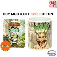 Doctor Stone Senku Coffee Mug with Senku Pin
