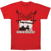 Mayhem Men's  Deathcrush Tee T-shirt Red