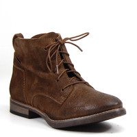 Diba True Shoes Every Thing Lace Up Booties Chestnut Brown