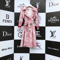 Christian Dior popular Loose Long Sleeve Irregular Cardigan Jacket Coat