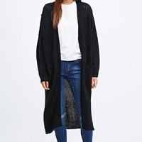 Cheap Monday Vain Oversized Longline Cardigan in Black - Urban Outfitters