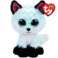 Ty Beanie Boo Large Piper the Chevron Fox Plush Toy