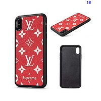LV Louis Vuitton Classic Print Mobile Phone Cover Case For iphone 6 6s 6plus 6s-plus 7 7plus 8 8plus X XsMax XR 1#