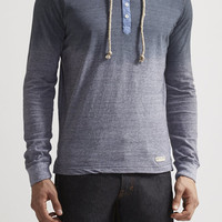 Striped Henley Hoodie