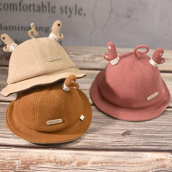 Children's Autumn And Winter Fisherman Hat Boys Warm Baby Hat Male Baby 1 Year Old 2 Girls Autumn Hat Cute