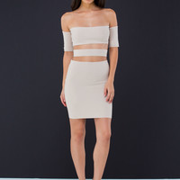 Knit Worthy Off-The-Shoulder Dress