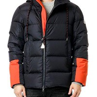 Wiberlux Moncler Drake Men's Contrast Color Panel Goose Down Jacket