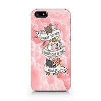 I Want to Pet Every Cat in the World Plastic Phone Case for Iphone 5 Iphone 5s
