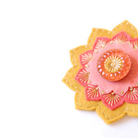 Sunset Embroidered Brooch