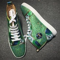 Christian Louboutin CL Rhinestone Style #1937 Sneakers Fashion Shoes Online
