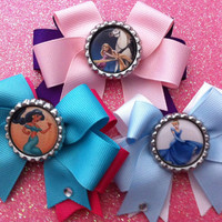 Disney Princess bow trio Rapunzel Cinderella and Jasmine ready to ship deal