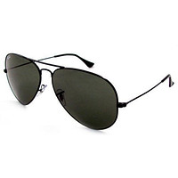 RAY BAN AVIATORS RB3025 BLACK FRAME BLACK LENSES 58MM