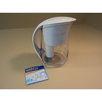 Brita Water Filtration System Oceania Pitcher Easy Fill Lid 10 Cups OB03 OB48 -- Used