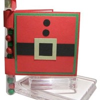 Santa Suit Test Tube Gift Card Holder Tutorial
