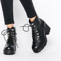 The WhitePepper Hiker Heeled Ankle Boots at asos.com