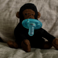 Gorilla Large BinkyFriend (Soothie Pacifier or Binky Leash) - Free Shipping on orders over 20 Dollars - FREESHIP20