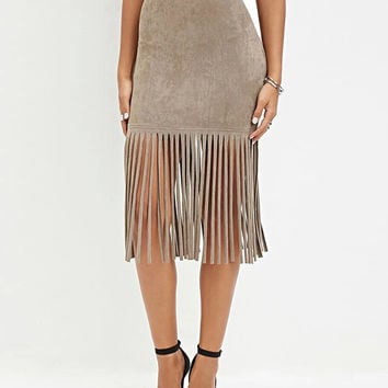 Tassel Fringed Pencil Skirt