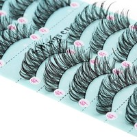 10 Pairs/Set Makeup 3D False Eyelashes Gorgeous Soft Long Cross Eye Lashes  Fake Lashes Extension Make up Beauty Tools