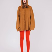 [SAMPLE] Knitted Oversized Sweater | Camel
