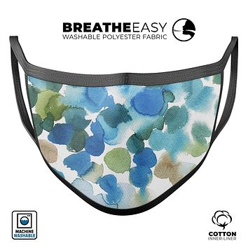Absorbed Watercolor Texture v3 - Made in USA Mouth Cover Unisex Anti-Dust Cotton Blend Reusable & Washable Face Mask with Adjustable Sizing for Adult or Child