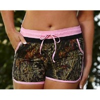 Wilderness Dreams Swim Women's Camo Board Short - Mossy Oak - 606031