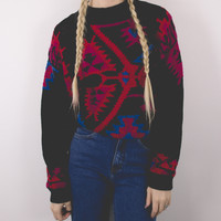 Vintage Aztec Tribal Print Sweater