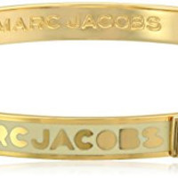 Marc Jacobs Cream Skinny Logo Bangle Bracelet