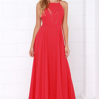 Mythical Kind of Love Red Maxi Dress