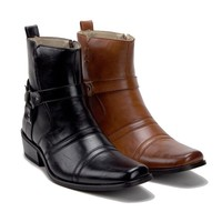 New Men's 39093 Leather Lined Western Style Cowboy Boots